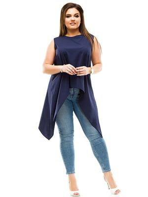 Блуза темно-синя | 4770554