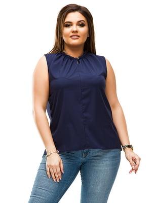 Блуза темно-синя | 4770557