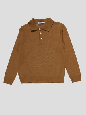 Джемпер-поло цвета хаки | 4791646