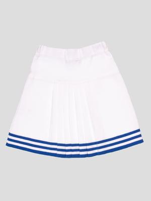 Спідниця біла з синіми смужками | 4677074