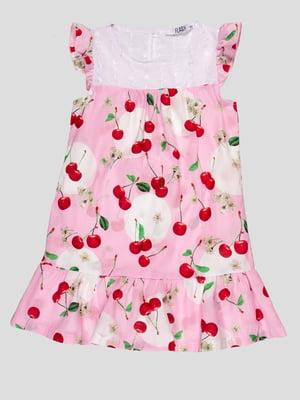 Платье розовое в принт | 4676777