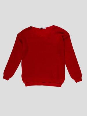 Пуловер красный | 4791642