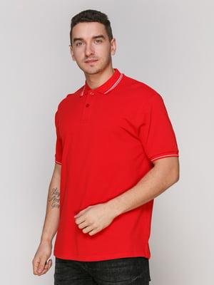 Футболка-поло червона | 4854921