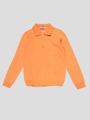 Джемпер-поло персикового цвета | 4791644