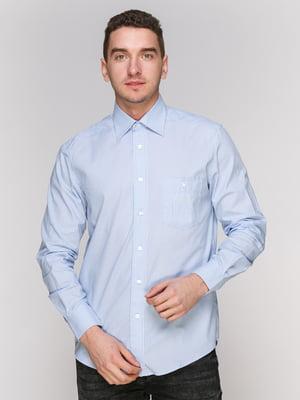 Сорочка блакитна в смужку | 4855388
