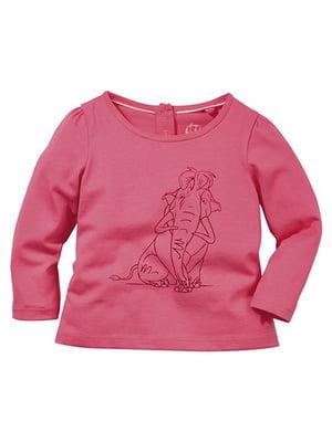 Лонгслів рожевий | 4964590