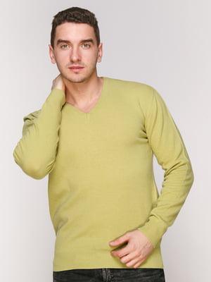 Пуловер салатовий | 4906967