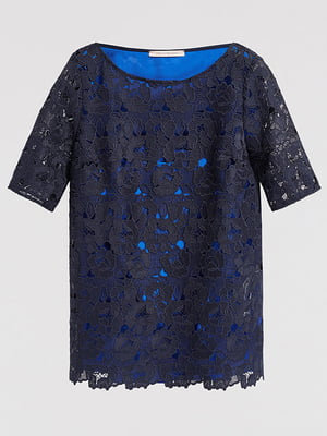Блуза темно-синя | 4965435
