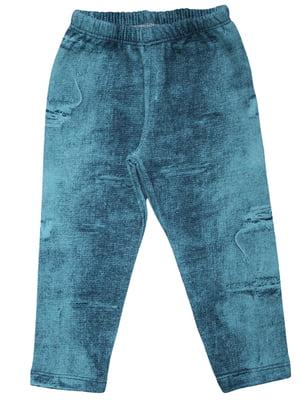 Легінси блакитні з начосом | 4965354