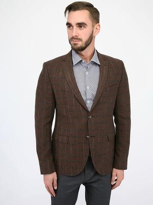 Пиджак коричневый в клетку | 4970420