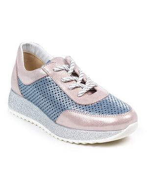Кроссовки розово-голубые | 4918778