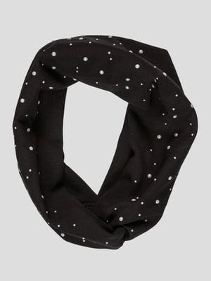 Пов'язка чорна з декором | 4874382