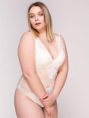 Блуза-боді молочного кольору | 4697178