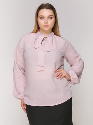 Блуза рожева в горох | 4950632