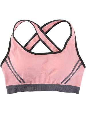 Топ спортивный розовый | 4971215