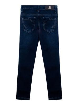 Джинси сині з декором | 4971332