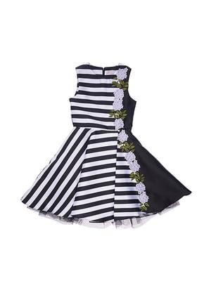 Сукня чорно-біла в смужку | 4971343