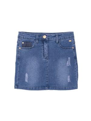 Спідниця синя джинсова   4971313