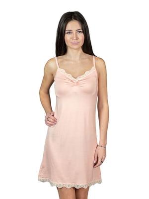 Рубашка ночная темно-персикового цвета | 4973202