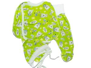 Комплект: сорочечка, повзунки і чепчик | 4466085