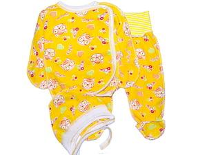 Комплект: сорочечка, повзунки і чепчик | 4810581