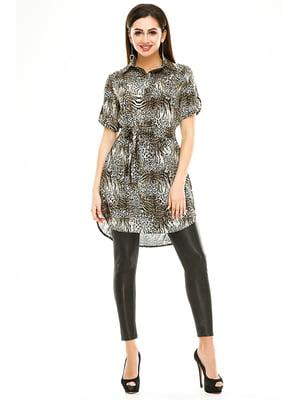Сукня-туніка в анімалістичного забарвлення | 4973541