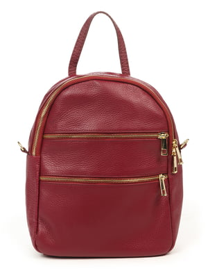 Рюкзак кольору марсала | 4958619
