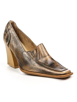 Туфли черно-бежевые   4948060