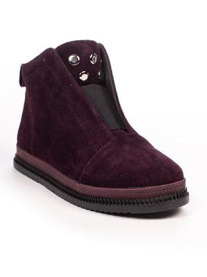 Ботинки цвета баклажан   4948491