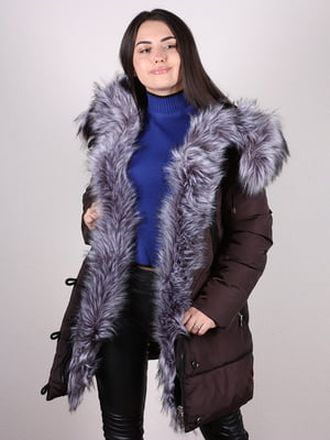 Пальто темно-коричневое | 4977727