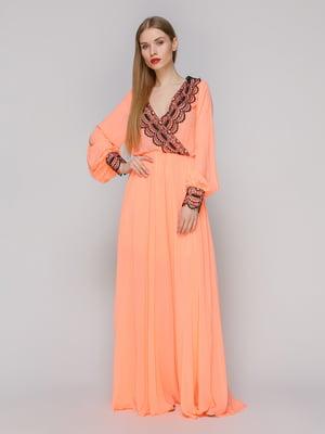 Платье персикового цвета | 4911028