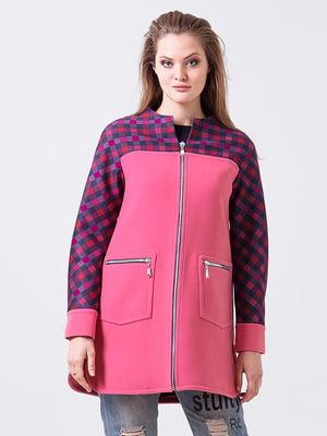 Пальто пурпурного цвета в клетку | 3591826