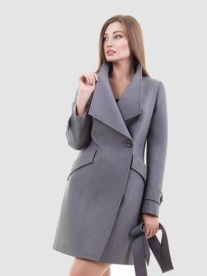 Пальто сталевого кольору | 4977315
