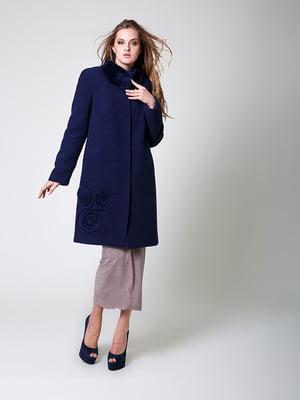 Пальто темно-синее | 4977466
