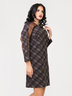 Сукня коричнева в клітинку | 4977561