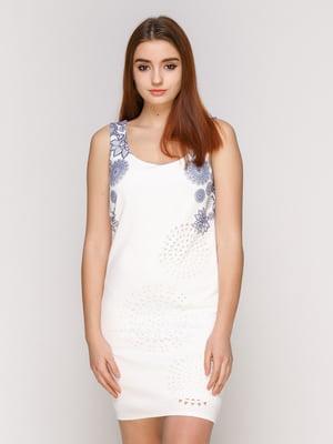 Платье белое с принтом | 4965723