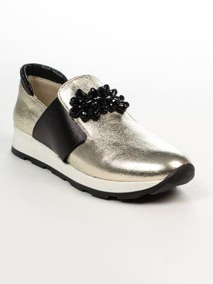 Кросівки золотисто-чорні | 4948471