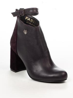 Ботинки цвета баклажан   4948490