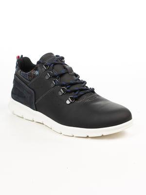 Кроссовки черно-синие | 4922178