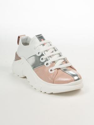 Кроссовки бело-розовые   4958505