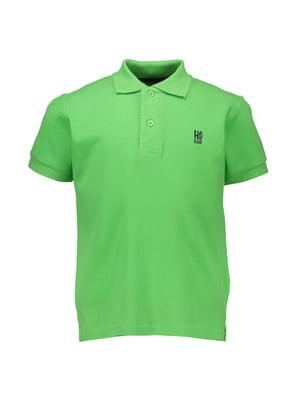 Футболка-поло зелена | 4958720