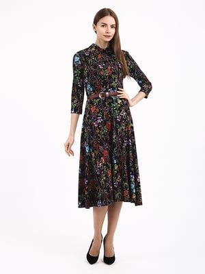 Платье в цветочный принт | 4866743