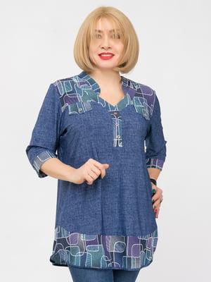 Блуза синя | 4982849