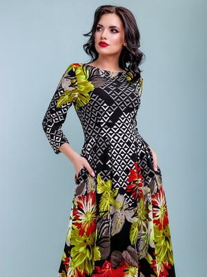 Платье в цветочный принт | 4983745
