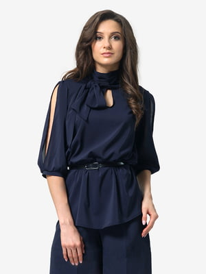 Блуза темно-синя | 4983831