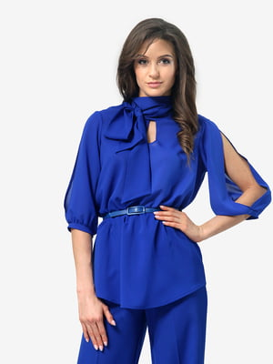 Блуза цвета электрик | 4983836