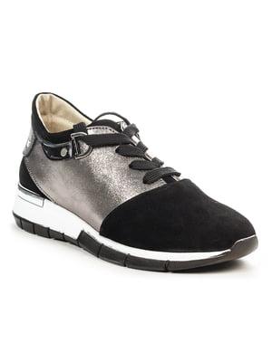 Кросівки чорно-нікелевого кольору | 4978591