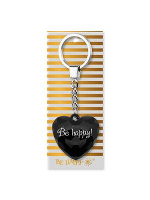 Брелок-серце з написом Be happy | 4984738