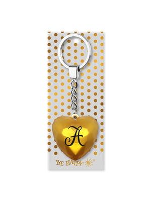 Брелок-сердце с надписью «А» | 4984746