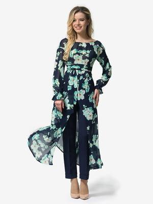 Туника в цветочный принт | 4985757